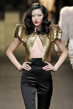Liu Wen at Alexandre Vauthier Haute Couture Week SS 2011 - love this jacket