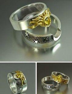#Anillos que sólo las mejores #amigas pueden tener #rings #best_friends #sun #moon