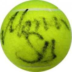 Monica Seles Autographed Tennis Ball – Autographed « StoreBreak.com – Away from the busy stores