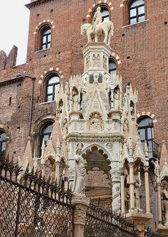 Tomb of Cansignorio della Scala by Bonino da Campione, circa 1375. Verona, Italy