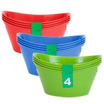 Bulk Mini Plastic Oval Storage Bins, 4-ct. Packs at DollarTree.com Plastic Items, Plastic Bins, Anthony B, Storage Bins, Palace, Scrap, Packing, Mini, Summer