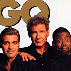 george clooney. harrison ford. chris rock.