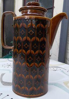 Hornsea Heirloom brown coffee pot. In excellent by Retrofanattic