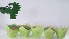 Muffins im Drachen-Muster