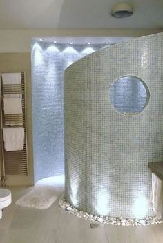 A walk-in shower means NO GLASS TO CLEAN. | 31 Insanely Clever Remodeling Ideas For Your New Home by Lautall