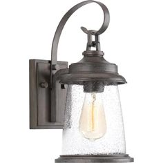 Large (larger than 9 inches) Outdoor Wall Lighting at Lowes.com Outdoor Barn Lighting, Outdoor Wall Lantern, Outdoor Wall Sconce, Outdoor Walls, Rustic Outdoor, Outdoor Furniture, Lemaire, Thing 1, Progress Lighting