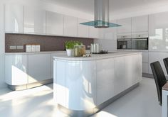 29 Awesome High Gloss White Modern Kitchen Cabinet Design Ideas ,Kitchens are big organization, and should you have the budget there isn't anything more luxurious than a bespoke fitted kitchen designed exclusively f. High Gloss White Kitchen, High Gloss Kitchen Cabinets, Diy Kitchen Cupboards, Kitchen Cabinet Design, Kitchen Unit, Island Kitchen, Modern Cabinets, Küchen Design, Interior Design