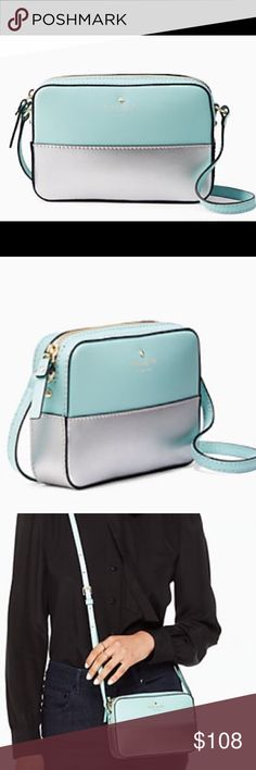 """Kate Spade Ivy Street Clover Crossbody bag! DESCRIPTION: The handbag- It's your constant companion, your security blanket, your way-more-than-an-accessory accessory. This comes from a smoke free and pet free home, still wrapped. SIZE 4.7""""h x 7""""w x 1.6""""d drop length: 23.5"""" MATERIAL: smooth leather,capital kate jacquard lining style # wkru3468 DETAILS: Gold foil emboss with floating metal Spade. kate spade Bags Crossbody Bags"""