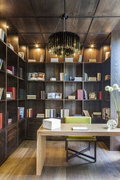 bibliothek für das wohnzimmer | zeitgenössische inneneinrichtung, Wohnzimmer