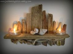 Driftwood shelf ~ Just Beachy Coastal Crafts
