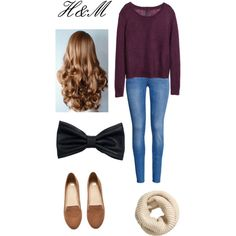 H&M Outfit by nataliesky on Polyvore featuring H&M