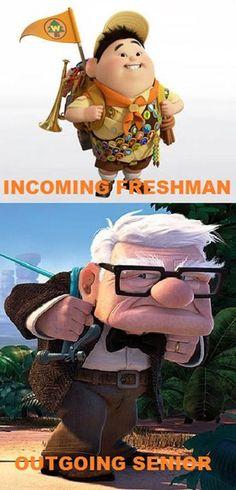 Freshman vs. Senior. actually how it feels :P