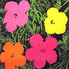 One Kings Lane - Pop Art - Andy Warhol, Flowers, 1964 small Andy Warhol Flowers, Andy Warhol Obra, Pop Art Andy Warhol, Andy Warhol Prints, Roy Lichtenstein, Arte Popular, Art Pop, Pop Art Prints, Art History