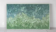 modern, Original artwork, sculpture, abstract art, canvas on edge, fine art, blue, ocean, water, coastal art, seattle, jason hallman, stephen stum
