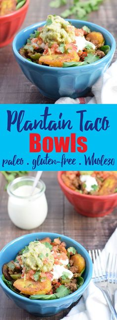 Plantain Taco Bowls from Living Loving Paleo! paleo, gluten-free & dairy-free & Whole30 compliant | This is a MUST make, it's so delicious! | an exclusive Invincible Inspiration member's recipes!