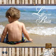 beach scrapbook layouts ⊱✿-✿⊰ Follow the Scrapbook Pages board & visit GrannyEnchanted.Com for thousands of digital scrapbook freebies. ⊱✿-✿⊰