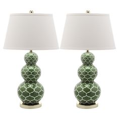 Moroccan Table Lamp in Fern Green (Set of 2) from the Safavieh Furniture event at Joss and Main!