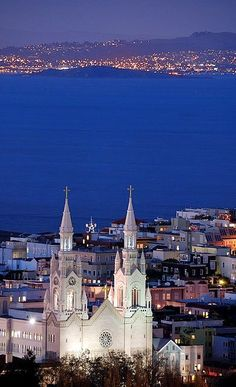 North Beach at dusk ~ San Francisco, California | Flickr - Photo by canbalci