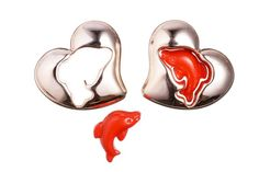Dolphan heart red silver-tone acrylic beads 32.5x29mm at $1.19/10PCS, shop plastic beads at Beadingsupplys.com