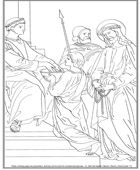 Stations of the cross free coloring sheets. (Station 1 - click through for all stations)