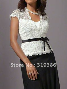 2012 New Style Black And White Mother Of The Bride Lace Dresses MD-018 Free Shipping $149.00