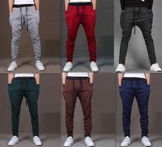 Mens Jogger Dance Sportwear Baggy Harem Pants Slacks Trousers Sweatpants #CasualPants