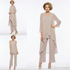 Plus Size Mother Of The Bride Pant Suit Chiffon For Beach Wedding Dress Mother'S Dress Long Sleeves Cheap Mothers Formal Gown Mathar Son Mother Of The Groom Suit From Dressvip, $104.23  Dhgate.Com