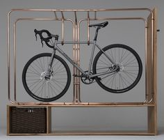 20 Modern Storage Ideas, Bike Racks for Fans of Functional and Aesthetic Storage Solutions Bike Storage Stand, Bicycle Storage, Storage Racks, Wall Racks, Garage Storage, Bike Storage Furniture, Urban Furniture, Metal Furniture, Distressed Furniture