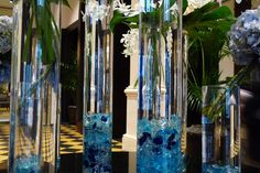 Collection of flower vases at the U.S. Grant Hotel, San Diego