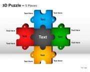 5 puzzle pieces powerpoint presentation templates slides