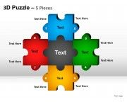 5 puzzle pieces powerpoint presentation templates slides