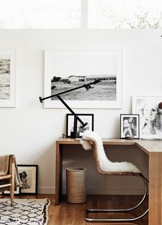 In honour of our writers and grammar fans, we've put together our top tips for styling a home office fit for a writer's retreat – from comfy chairs to studious accessories. From home office chair to accessories ideas, we've covered it all! Home Office Space, Home Office Design, Home Office Decor, House Design, Office Ideas, Corner Office Desk, Work Desk Decor, Decoration Inspiration, Workspace Inspiration