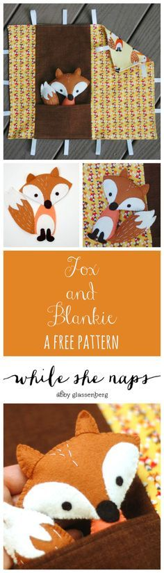 A Free Pattern For Fox And Blankie Play Set Stuffed Animal