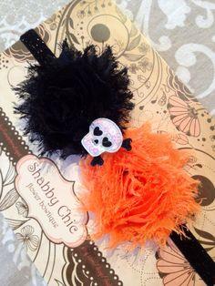 Halloween Headband Shabby Chic Flower by ShabbyFlowerBowtique, $6.99