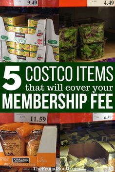 Learn how to save money at Costco with just these 5 items! These five Costco buys will easily pay for your membership by themselves. Get the essentials for a Costco shopping list and more ideas for saving money at The Frugal South. Costco Savings, Costco Shopping List, Costco Finds, Costco Membership, Shopping Hacks, Store Hacks, Bargain Shopping, Grocery Lists, Snack Recipes