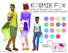 Toskami's Fox Ears/Tail in nyren's kosmik pastels by dtron at SimsWorkshop via Sims 4 Updates