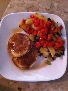 Gluten Free Pancakes & Fried Sweet Potatoes