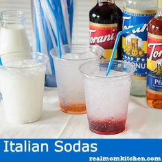 Italian Sodas and a Virtual Baby Shower - Real Mom Kitchen