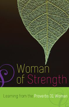 In this book of meditations, you will meet the real woman of Proverbs 31: dignified, strong, caring, creative, and resourceful. Most of all, she's a woman who k