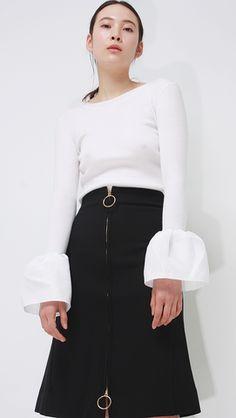 Truffaut Bell Sleeve Knit in Ivory.