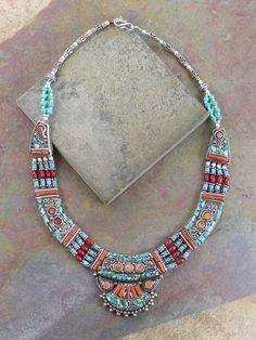 Dharmashop.com - Namtso Tibetan Necklace , $149.00 (http://www.dharmashop.com/namtso-tibetan-necklace/)