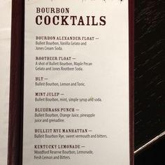 Just a couple of Bar 145 delicious bourbon cocktails!