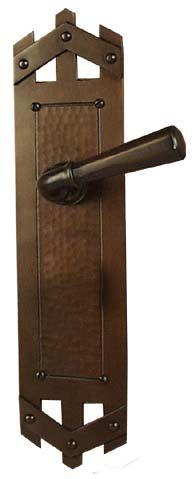 arts and crafts pickett style hand crafted hand hammered copper interior escutcheon door hardware