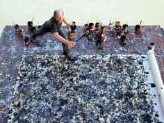 Jackson Pollock. The freedom to just paint and be in the flow- something many…