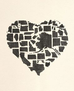 Home is where the hart is. So you could say that this is where I am, in the hart of America. The home that I love. God Bless America, Cool Stuff, Diy Stuff, Pics Art, My New Room, Looks Cool, Artsy Fartsy, Just In Case, Heart Shapes