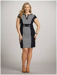 c62161409b4 Plus Size Colorblock Chevron Dress - Dress Barn