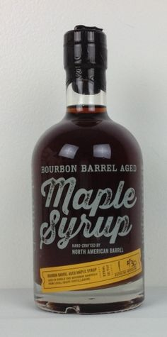 Bourbon Barrel Aged Maple Syrup from Black Button Distilling in Rochester, NY