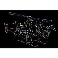 Outdoor Christmas Light Displays, Christmas Lights, Christmas Decorations, Animated Reindeer, Flying Helicopter, Hair Accessories, Animation, Christmas Fairy Lights, Hair Accessory