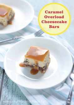 Celebrate any special occasion with these tasty Caramel Overload Cheesecake Bars.