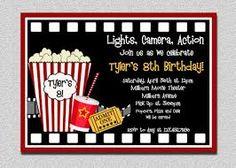 movie birthday party invitations printable free